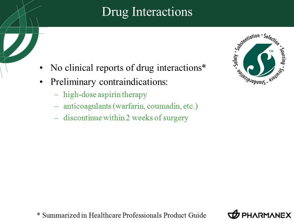 Drug Interactions No clinical reports of drug interactions*