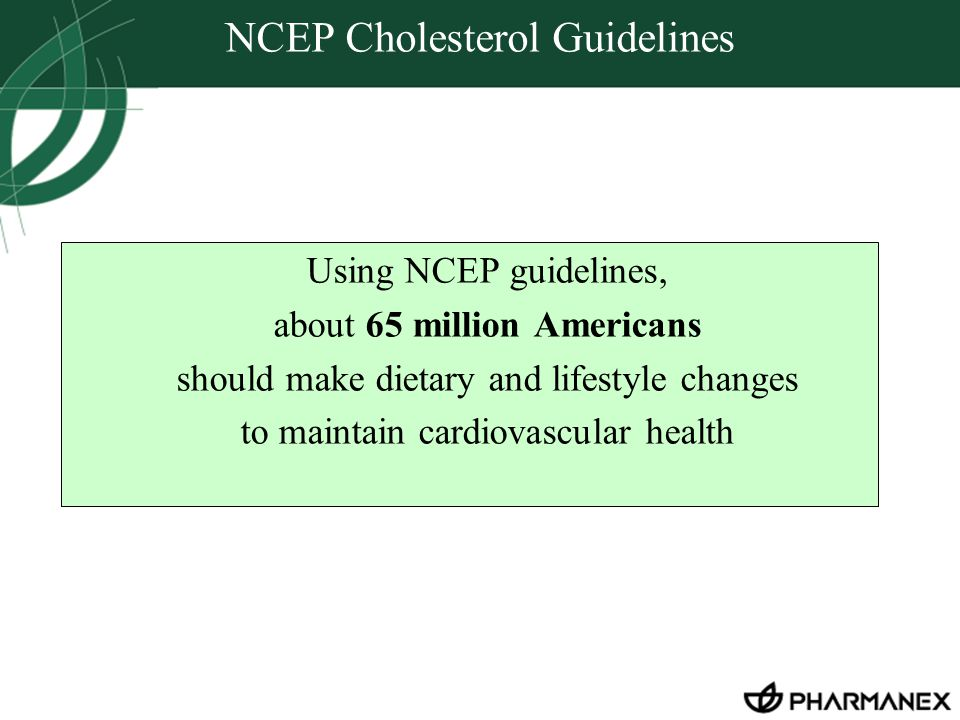 NCEP Cholesterol Guidelines