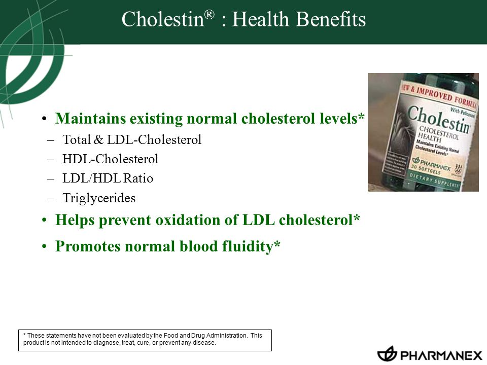 Cholestin® : Health Benefits
