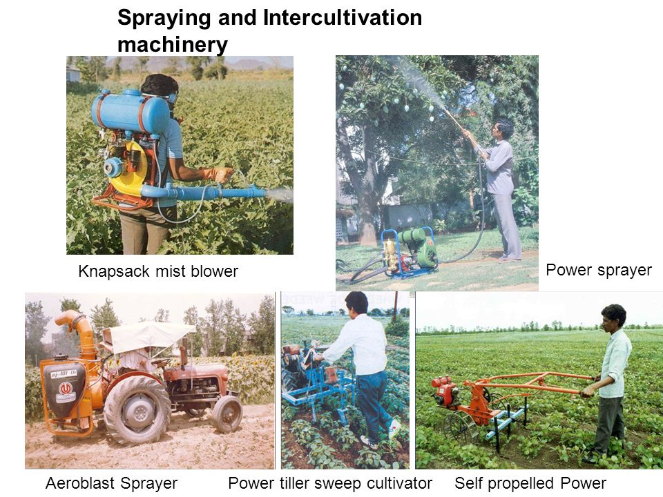 Spraying and Intercultivation machinery