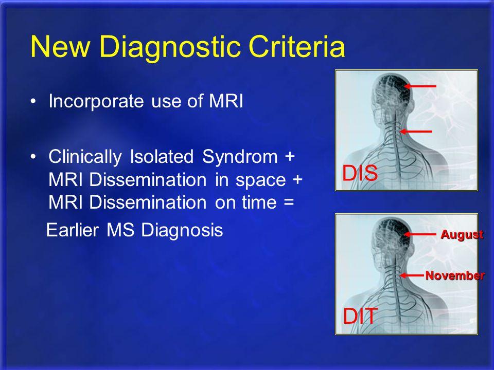 New Diagnostic Criteria