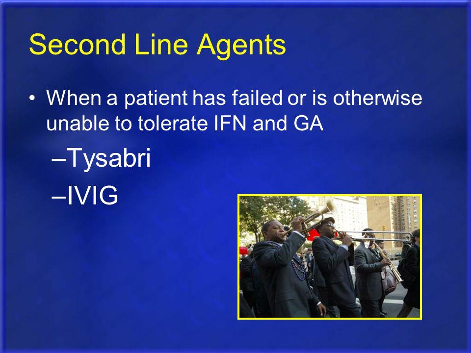 Second Line Agents Tysabri IVIG