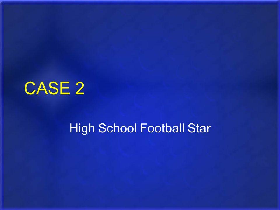High School Football Star