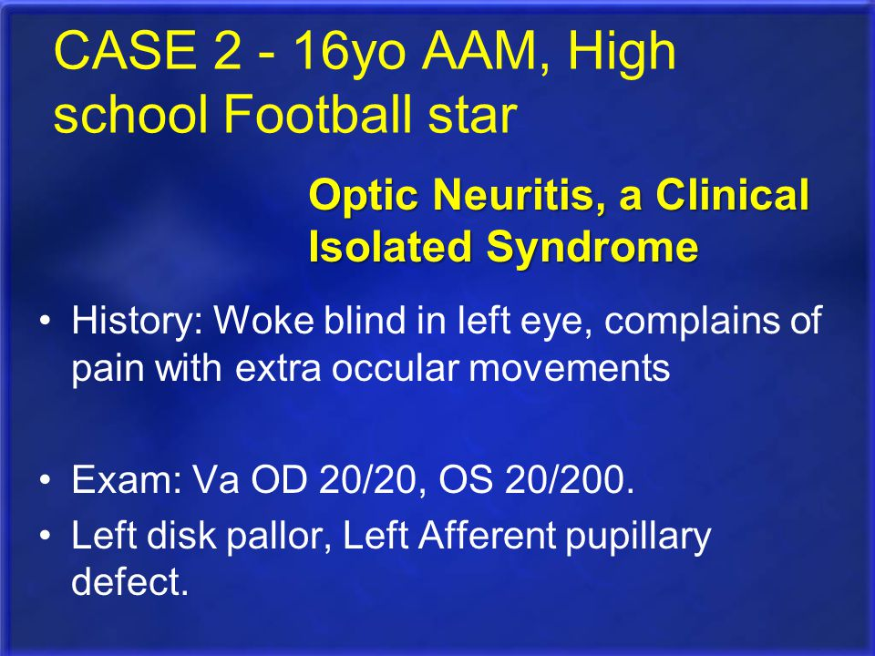 CASE 2 - 16yo AAM, High school Football star