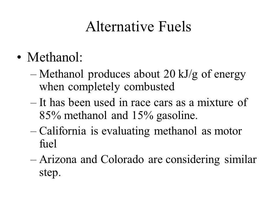Alternative Fuels Methanol: