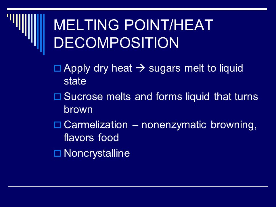 MELTING POINT/HEAT DECOMPOSITION