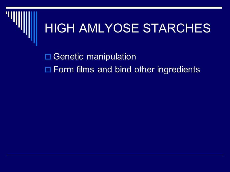 HIGH AMLYOSE STARCHES Genetic manipulation