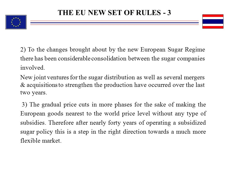 THE EU NEW SET OF RULES - 3