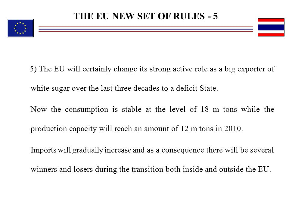 THE EU NEW SET OF RULES - 5