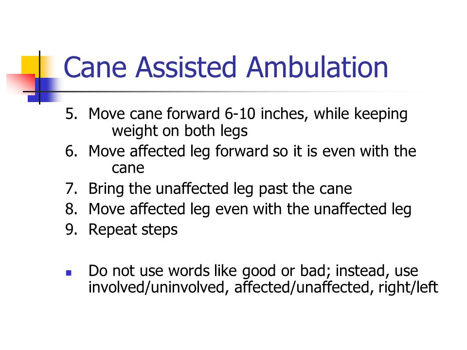 Cane Assisted Ambulation