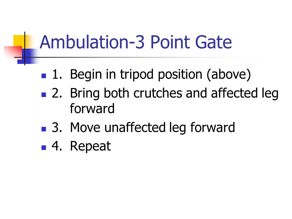 Ambulation-3 Point Gate