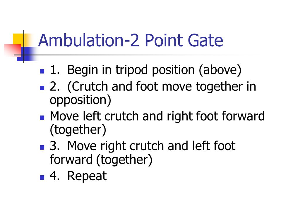 Ambulation-2 Point Gate