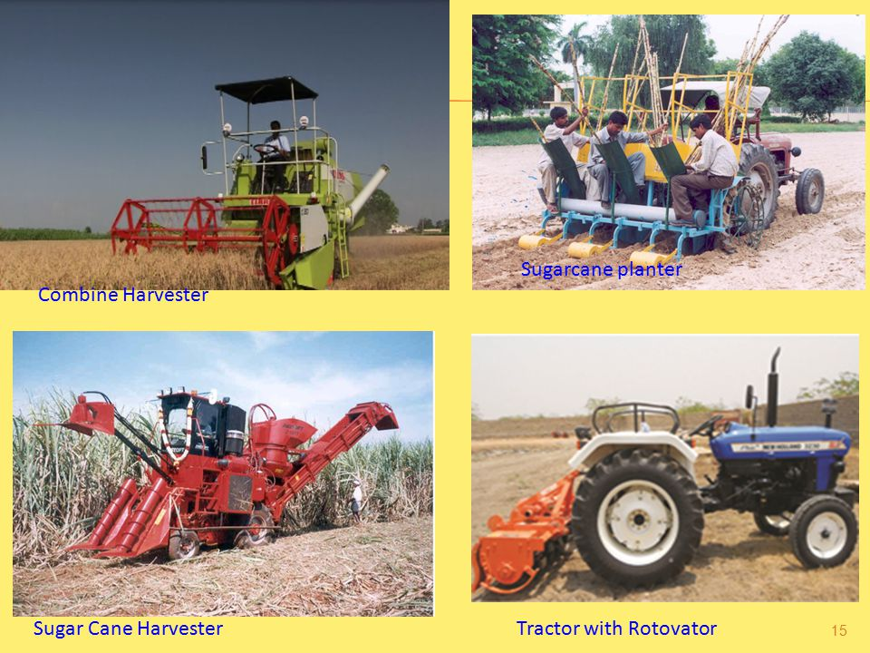 Sugarcane planter Combine Harvester Sugar Cane Harvester Tractor with Rotovator