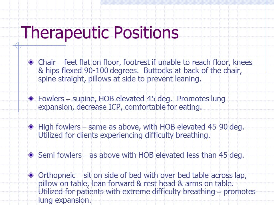 Therapeutic Positions