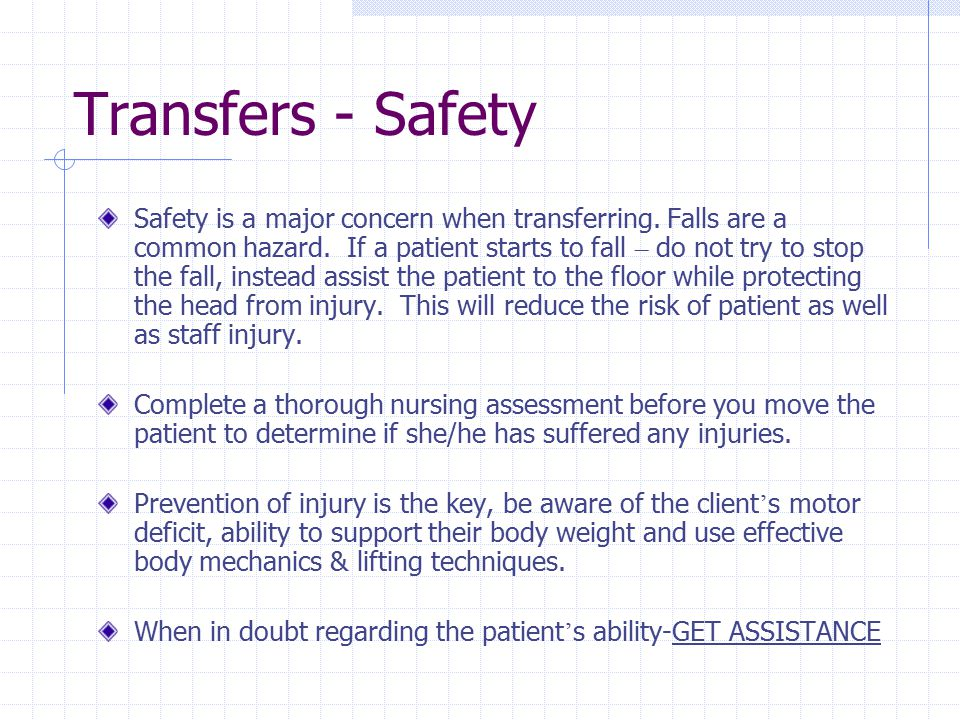 Transfers - Safety