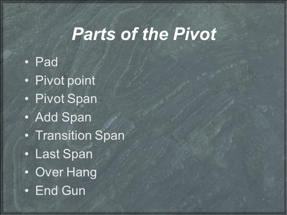 Parts of the Pivot Pad Pivot point Pivot Span Add Span Transition Span