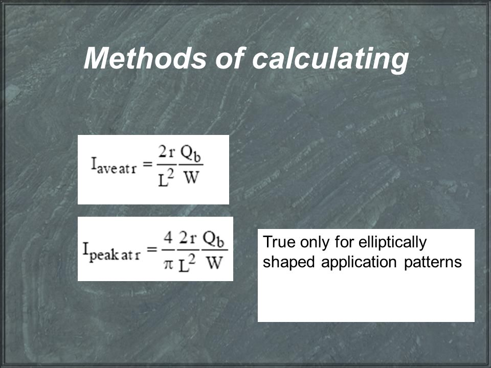 Methods of calculating