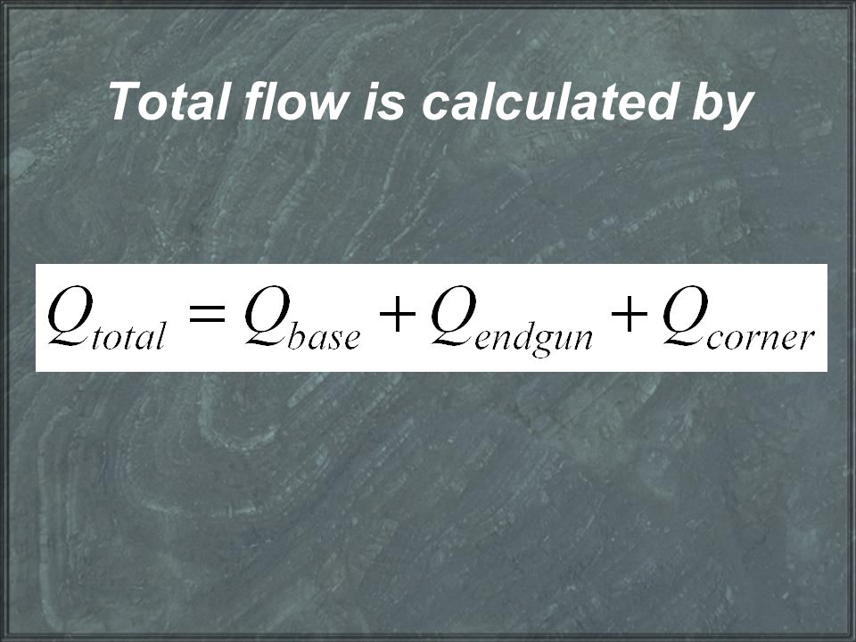 Total flow is calculated by