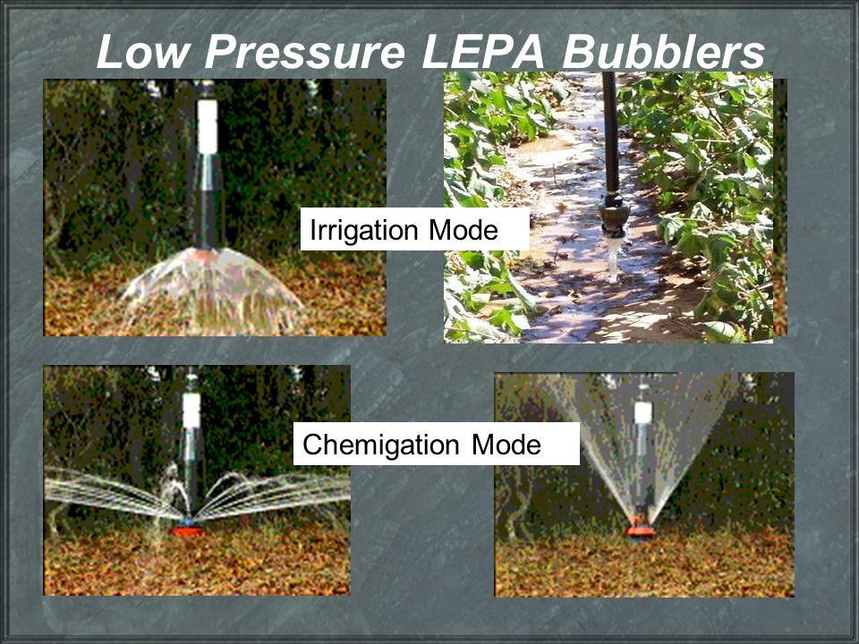 Low Pressure LEPA Bubblers