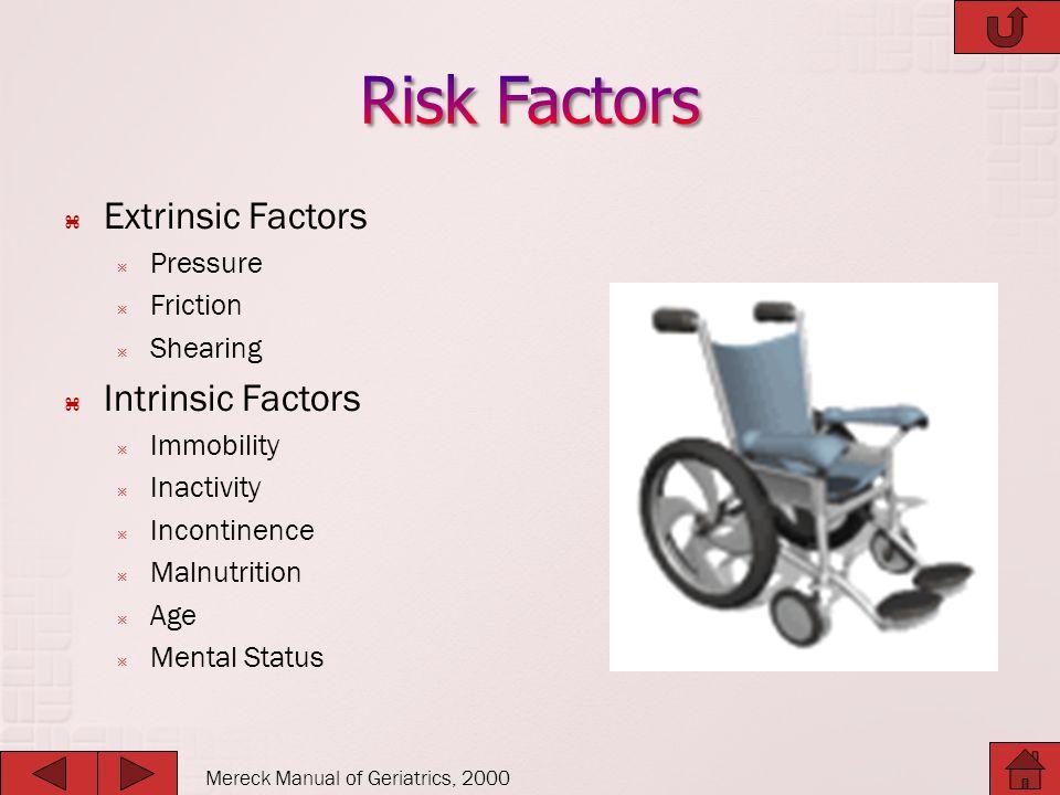 Risk Factors Extrinsic Factors Intrinsic Factors Pressure Friction