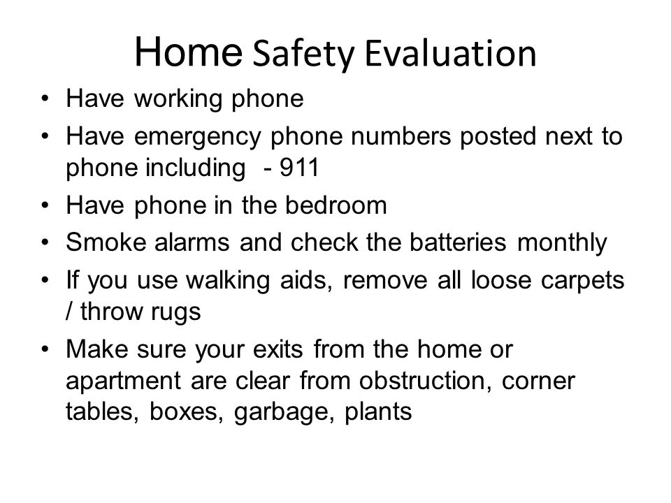 Home Safety Evaluation