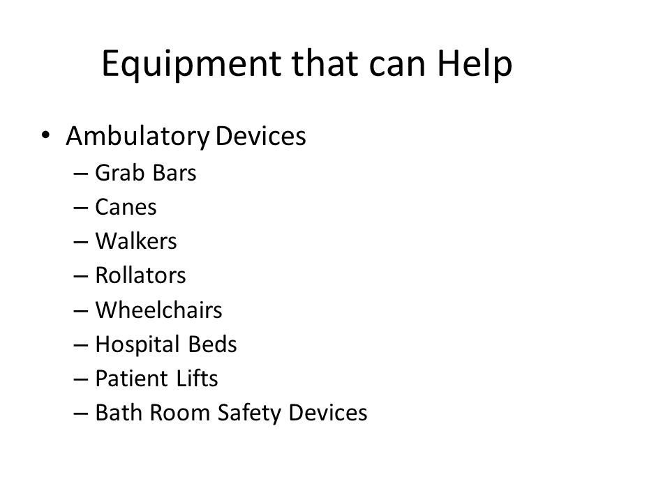 Equipment that can Help