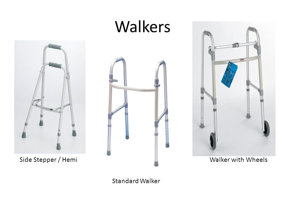 Walkers Side Stepper / Hemi Walker with Wheels Standard Walker