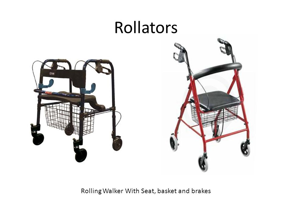 Rollators Rolling Walker With Seat, basket and brakes