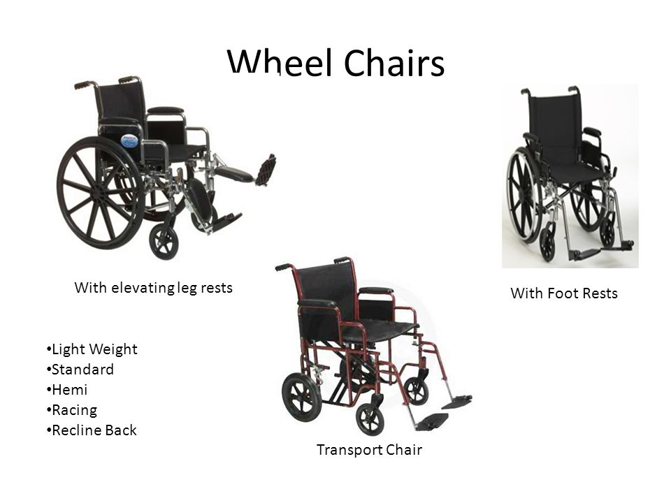 Wheel Chairs With elevating leg rests With Foot Rests Light Weight