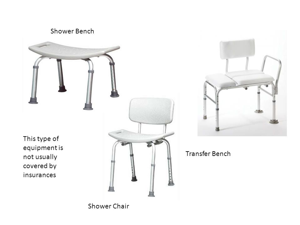 Shower Bench This type of equipment is not usually covered by insurances.