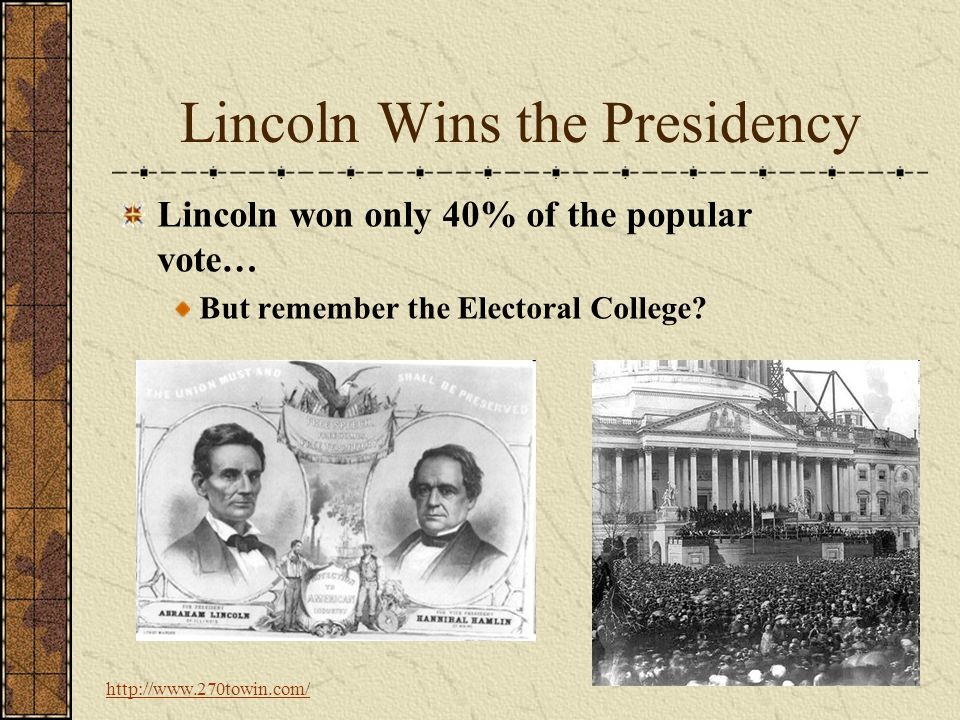 Lincoln Wins the Presidency