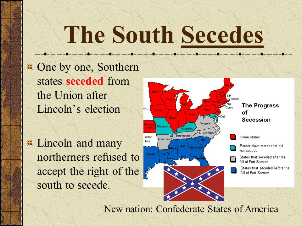New nation: Confederate States of America