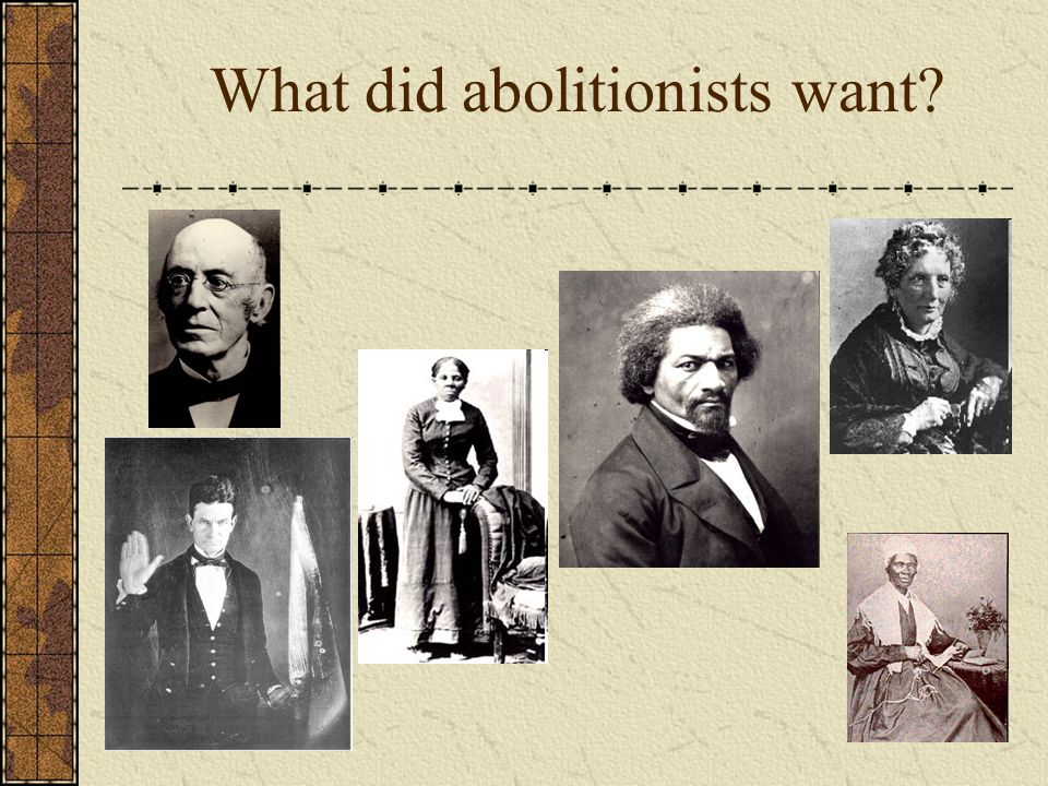What did abolitionists want