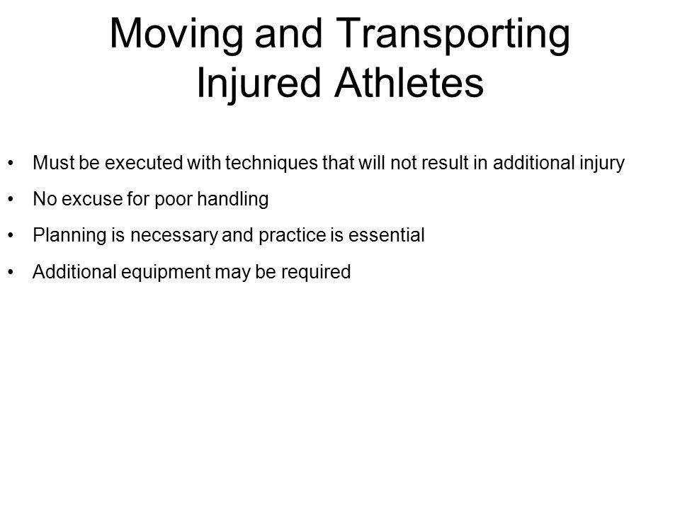 Moving and Transporting Injured Athletes