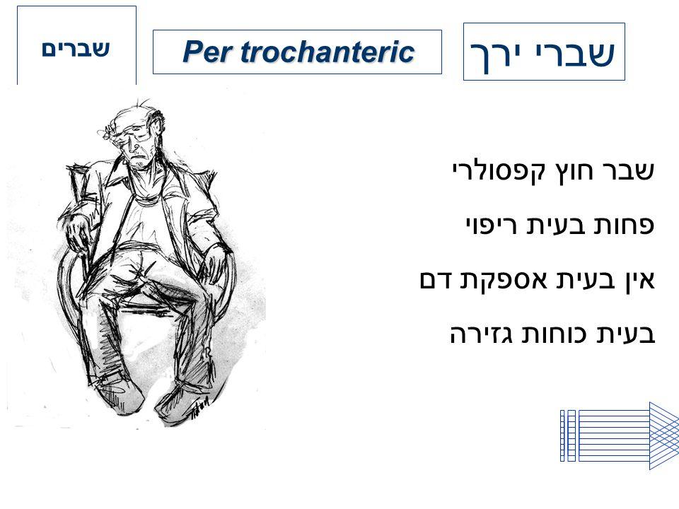 שברי ירך Per trochanteric שבר חוץ קפסולרי פחות בעית ריפוי