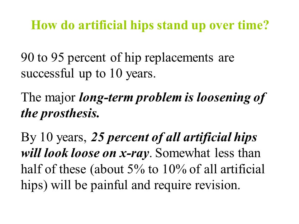 How do artificial hips stand up over time