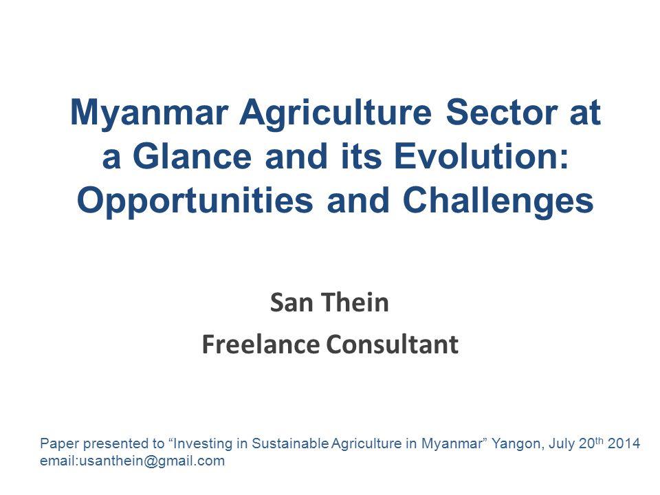 San Thein Freelance Consultant