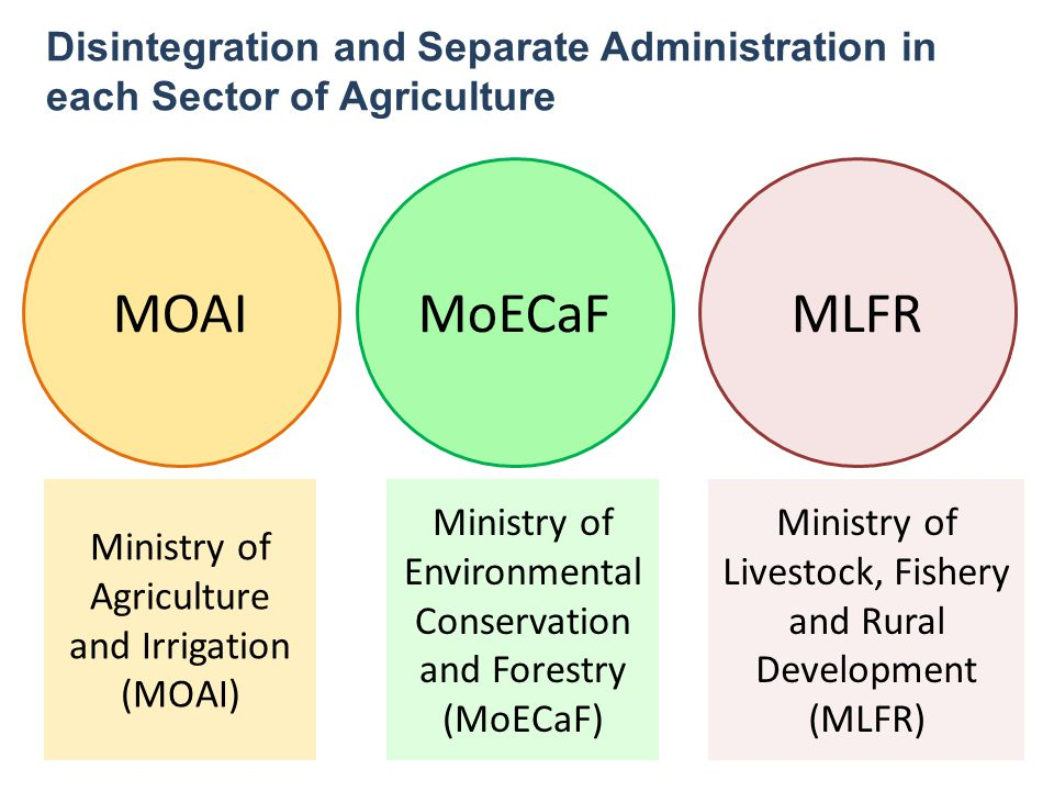 Disintegration and Separate Administration in each Sector of Agriculture