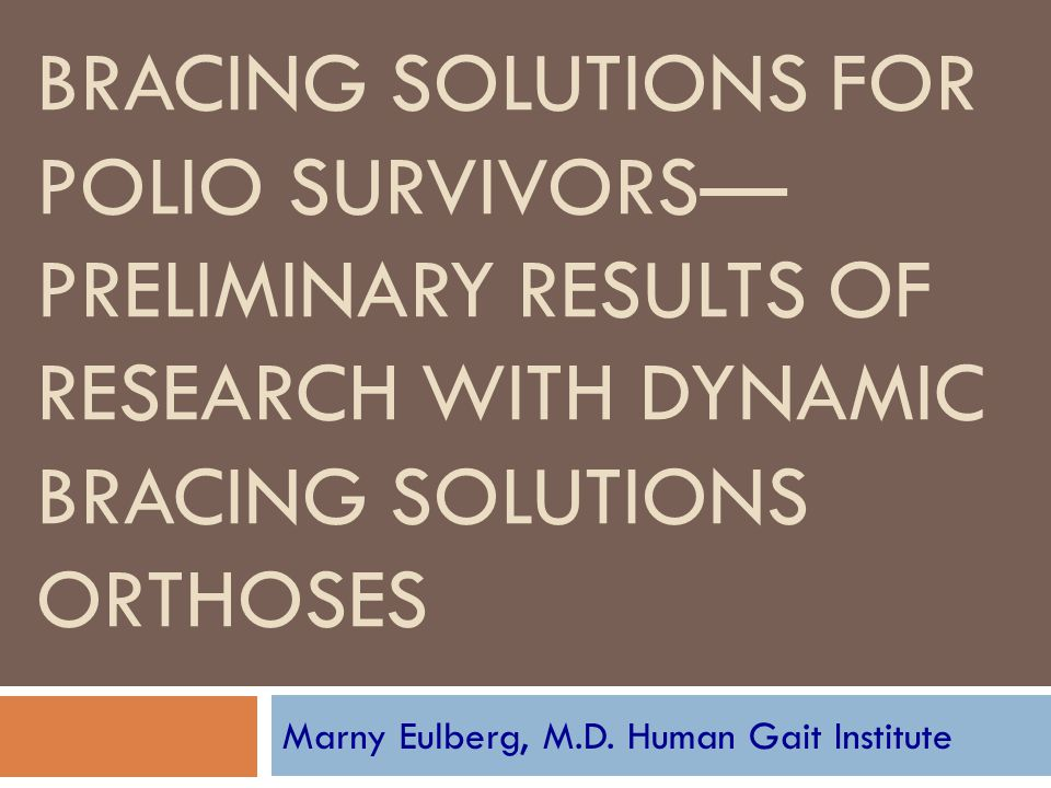 Marny Eulberg, M.D. Human Gait Institute