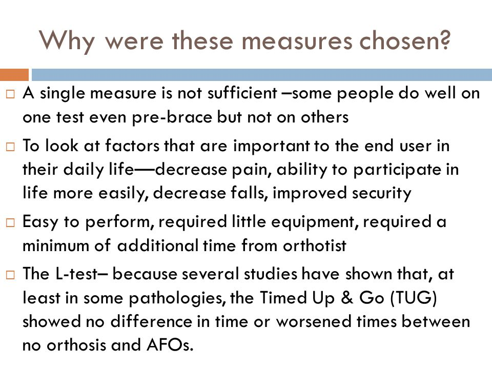 Why were these measures chosen