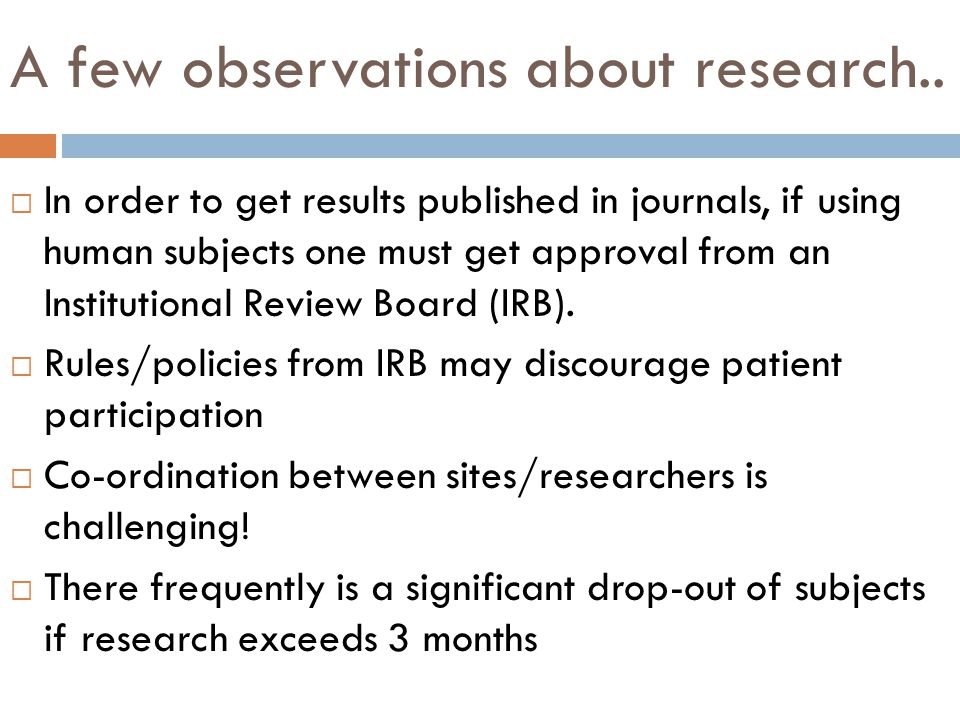 A few observations about research..