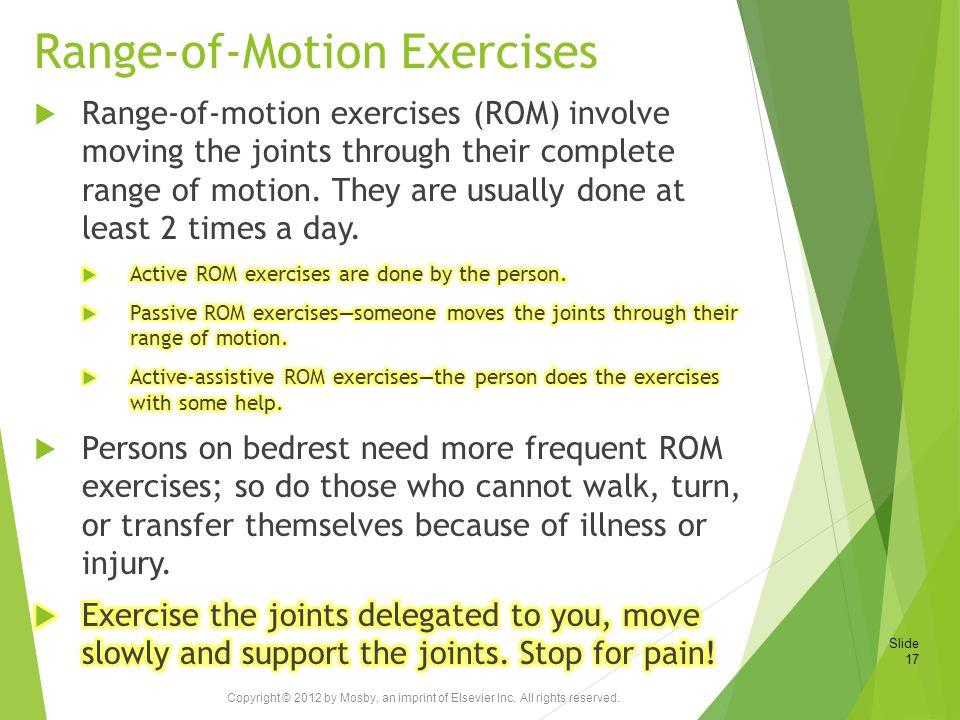 Range-of-Motion Exercises