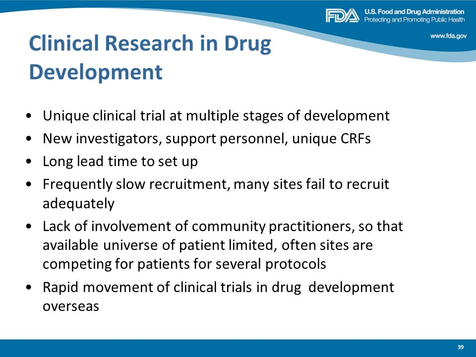 Clinical Research in Drug Development