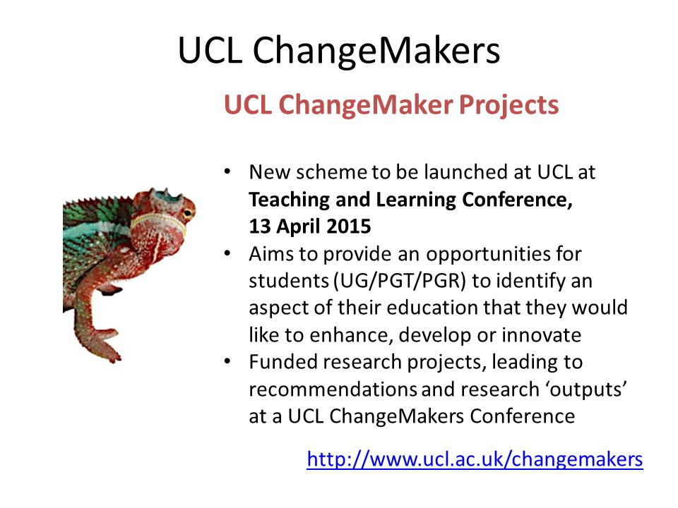 UCL ChangeMakers UCL ChangeMaker Projects