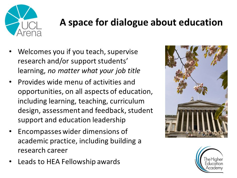 A space for dialogue about education