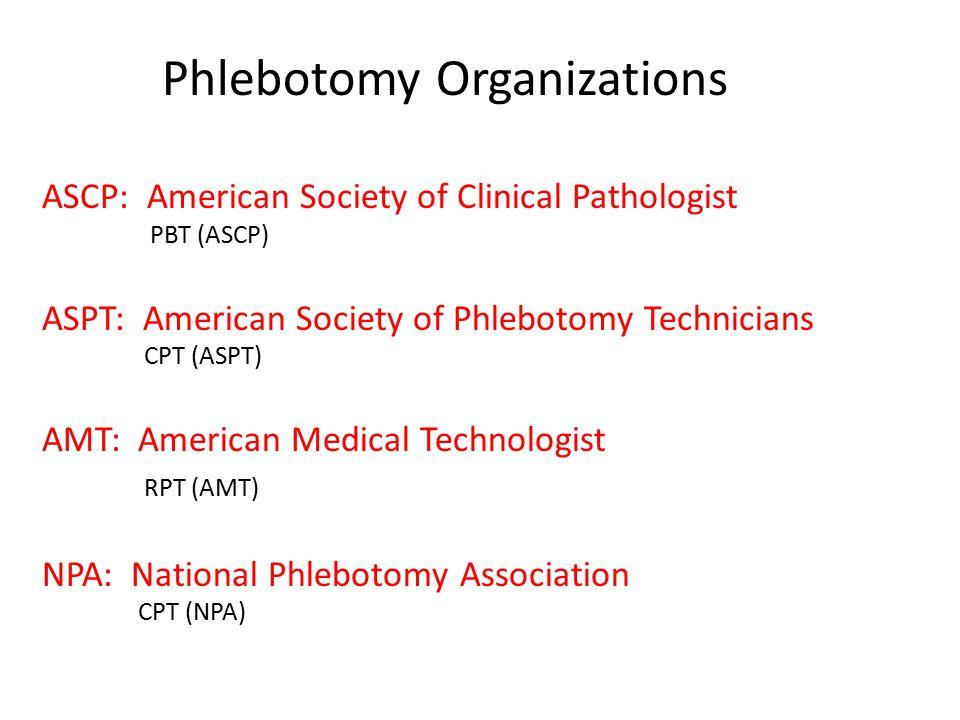 Phlebotomy Organizations