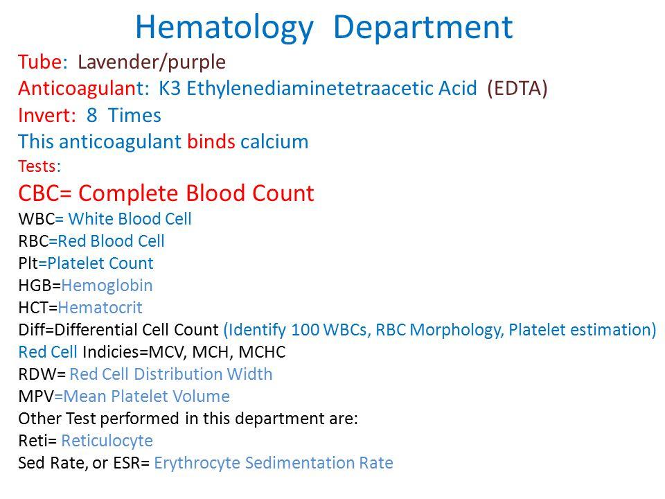 Hematology Department
