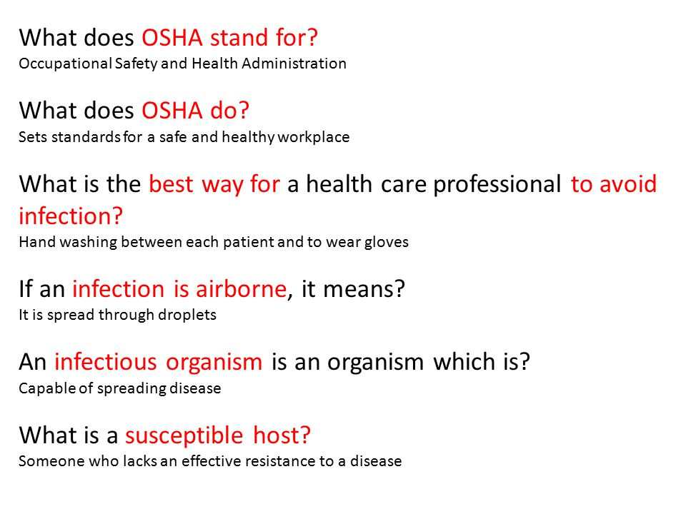 What does OSHA stand for What does OSHA do