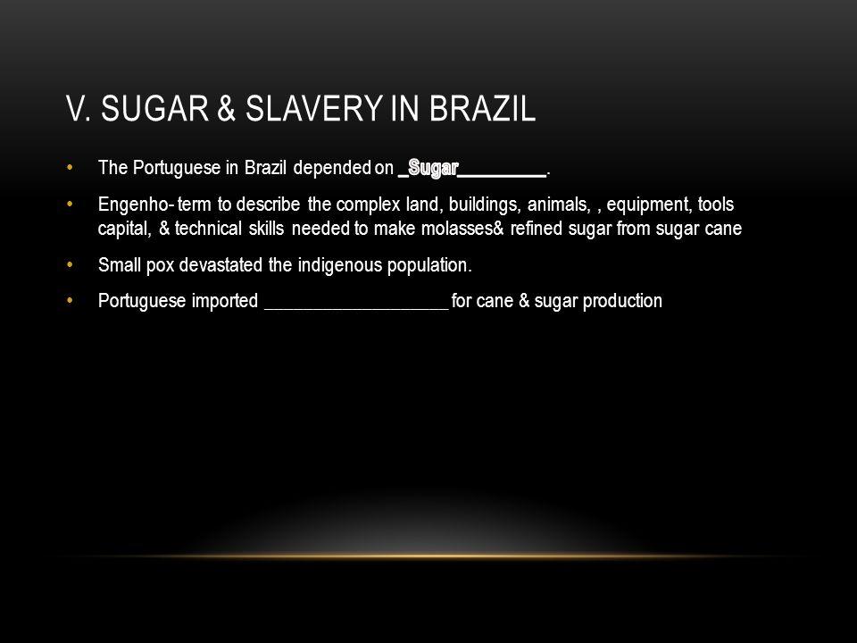 V. Sugar & Slavery in Brazil