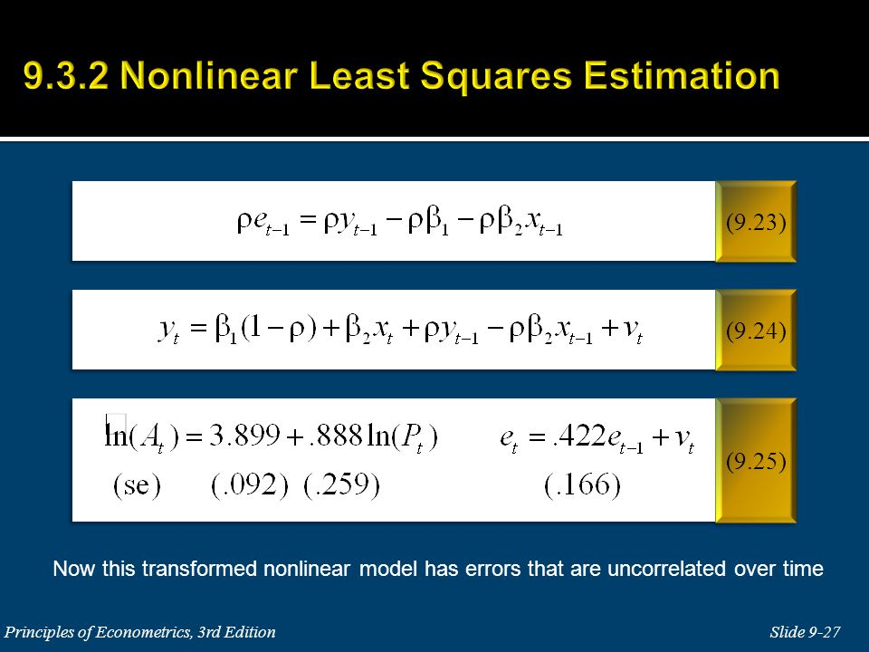 9.3.2 Nonlinear Least Squares Estimation